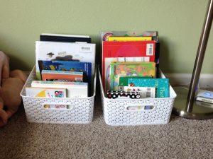 organize with bins